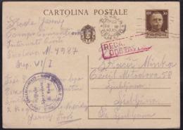 Padova, Detention Camp / Campo Concentramento, 1943 To Ljubljana - Lubiana
