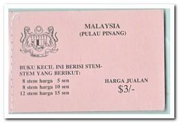 Pulau Pinang 1979, Postfris MNH, Flowers ( Booklet ) - Maleisië (1964-...)