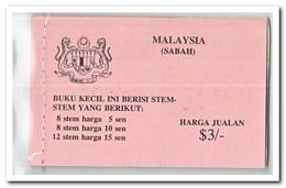 Sabah 1979, Postfris MNH, Flowers ( Booklet ) - Maleisië (1964-...)
