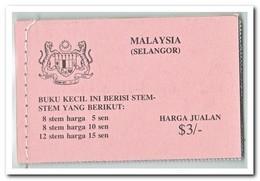 Selangor 1979, Postfris MNH, Flowers ( Booklet ) - Maleisië (1964-...)