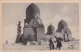 MAMELOUKS TOMBS. CAIRO. VINTAGE FOLK PANORAMA. ED ZOGOS & CO. CPA 1900's - BLEUP - El Cairo