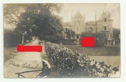 DINARD  Carte Photo  Villa Vieux Colombier (Bd Liberation) Cuisinier Chien Terrain De Tennis Lire Dos - Dinard