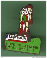CYCLISME *** LE TOUR 91 *** COTE DE LASSEUBE 18 Juillet 91 *** 1021 - Ciclismo