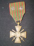 Croix De Guerre 1914 - 1915 Avec 2 étoiles De Bronze - 1914-18