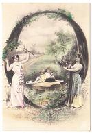 """CPA Alphabet Carte, Femme Et Enfants Lettre """" O """", Ungel. - Fantaisies"""
