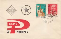 """Bulgarie 1963 - 10e Congres De L'Union De La Jeunesse""""Dimitrov"""", FDC - FDC"""