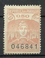 PARAGUAY 1954 Revenue Tax 0,50 C. (*) - Paraguay