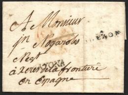 Basses Pyrénées-Lettre Avec Marque 64 OLERON-Pour L'Espagne-Marque BAYONA - 1701-1800: Précurseurs XVIII