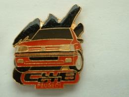 PIN'S  PEUGEOT - CLUB GTI - 205 ROUGE - Peugeot