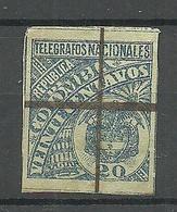 COLOMBIA KOLUMBIEN Old Telegraph Stamp Telegrafos Nacionales 20 C. O - Colombie