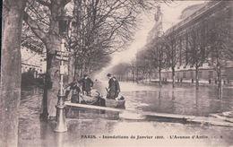 PARIS Inondations De Janvier 1910 L'Avenue D'Antin (Arrêt Du TRAMWAY) - Arrondissement: 08