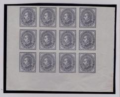 D.Luis, De Perfil, 4x3 Strip épreuves Imperforated Proofs Portugal #8097 - 1862-1884 : D.Luiz I