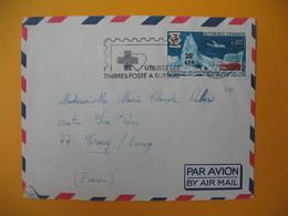Lettre De La Réunion CFA  1969  N° 380 Expéditions Polaires Françaises  De Saint Denis   Pour Crouy Sur Ourcq France - Reunion Island (1852-1975)
