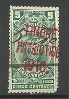 ECUADOR 1907/08 Timbre Fiscal With OPT Timbre Patriotico 1910 Revenue Tax O - Ecuador