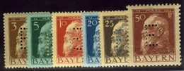 Bavaria. Michel #6-11. Officials. Mint. ** - Bavaria