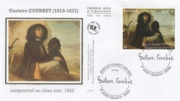 FDC 2019 - Gustave Courbet - Autoportrait Au Chien Noir 1842 - 1er Jour Le 07.06.2019 à 75 Paris - 2010-....