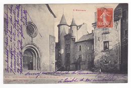 12 Montbazens Porte De L'Eglise Et Hôtel De Ville Phototypie N°370 De Labouche Frères Toulouse L'Aveyron - Montbazens