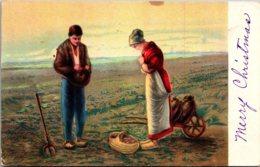 Farming Scene Farmers Praying In Field 1918 - Farms