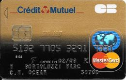 -CARTE+-PUCE-MAGNETIQUE-CB-CREDIT-MUTUEL -Exp-02/08/-AXALTO-09/05-TBE-RARE - Cartes Bancaires Jetables