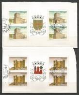 Portugal   1988  Mi.Nr. 1757 / 58 MH - Burgen Und Schlösser - On Paper - Gestempelt / Used / (o) - Libretti