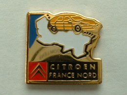 Pin's CITROËN FRANCE NORD  - VOITURE JAUNE - Citroën