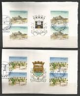 Portugal   1987  Mi.Nr. 1732 / 33 MH - Burgen Und Schlösser - On Paper - Gestempelt / Used / (o) - Libretti
