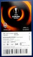 Football Tickets -  F.C.  SHAKHTAR  Donetsk V  F.C. KONYASPOR , 2016 , EURO - CUP. - Tickets D'entrée