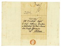 LETTERA DI CARATTERE NUMISMATICO SPEDITA AL DIRETTORE MUSEO ZECCA MILANO 1815 (3/13) - Manuscritos