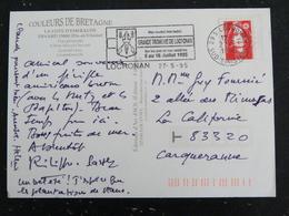LOCRONAN - FINISTERE - FLAMME GRANDE TROMENIE 1995 SUR MARIANNE BRIAT - DINARD COTE EMERAUDE - Mechanical Postmarks (Advertisement)