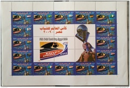 E24 - Egypt 2009 MNH Complete Set 16v. In FULL SHEET - FIFA U-20 Football World Cup - Egypte