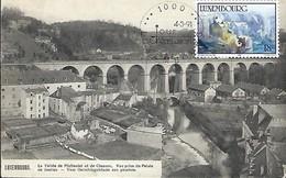 Luxembourg  -  La Vallée Du Pfaffental Et De Clausen . Vue Prise Du Palais - P.C. Scoren,Luxembourg - Cartes Maximum
