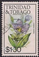 Trinidad & Tobago 1983 - 89 QE2 $1.50ct Eustoma Exaltatum Flower SG 647a ( J1410 ) - Trinidad & Tobago (1962-...)