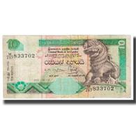 Billet, Sri Lanka, 10 Rupees, 2001, 2001-12-12, KM:115a, TB - Sri Lanka