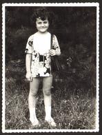 Child Cute Girl In Park Old Photo 9x12 Cm #28551 - Persone Anonimi