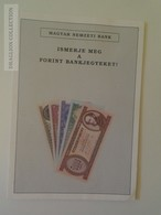 KA401.10 Hungary Forint Banknotes Presentation Leporello -Magyar Nemzeti Bank  Ca 1990 - Billets