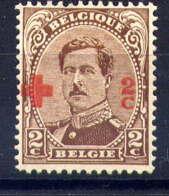 BELGIQUE - 151* - CROIX ROUGE / ALBERT 1er - 1918 Rotes Kreuz