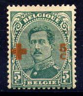 BELGIQUE - 152* - CROIX ROUGE / ALBERT 1er - 1918 Rotes Kreuz