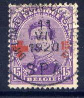 BELGIQUE - 154° - CROIX ROUGE / ALBERT 1er - 1918 Rotes Kreuz