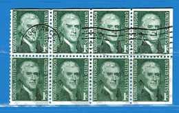 (Us2) USA °-1967-68 - Américains Célèbres- THOMAS JEFFERSON.  Yvert . 816 Da CARNET  .  USED.  Vedi Descrizione - Stati Uniti