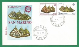 San Marino 1977  Mi.Nr. 1131 / 1132 , EUROPA CEPT Landschaften - FDC Repubblica Di San Marino 14.4.77 - Europa-CEPT