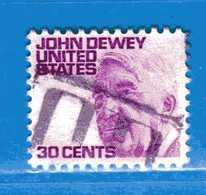 (Us2) USA °-1967-68 - Américains Célèbres- JOHN DEWEY.  Yvert . 823B. Fluorescente  .  USED.  Vedi Descrizione - Stati Uniti
