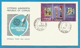 Zypern 1975  Mi.Nr. 426 / 428 , EUROPA CEPT Gemälde - FDC - First Day  28.4.1975 - Chypre (République)