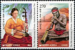 South Korea 2011. Korea-Australia Diplomatic Ties (MNH OG) Block Of 2 Stamps - Korea (Süd-)
