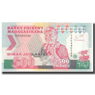 Billet, Madagascar, 2500 Francs = 500 Ariary, KM:72Ab, NEUF - Madagascar
