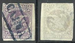 COLOMBIA KOLUMBIEN 1876 Michel 62 Y (striped Paper) O - Colombia