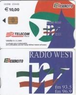 ITALY - El Esercito, Radio West, Telecom Italia Satellite Card 10 Euro, CN : 0098, Exp.date 31/12/05, Used - Telefoonkaarten