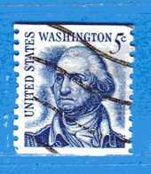 (Us2) USA °-1967-68 - Américains Célèbres- GEORGE WASHINGTON.  Yvert . 796A. D. 10 Vert.  .  USED.  Vedi Descrizione - Stati Uniti