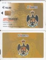 ITALY - El Esercito, Telecom Italia Satellite Card 10 Euro, CN : 00100, Exp.date 31/12/06, Used - Phonecards