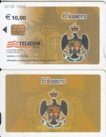 ITALY - El Esercito, Telecom Italia Satellite Card 10 Euro, CN : 00100, Exp.date 31/12/06, Used - Telefoonkaarten