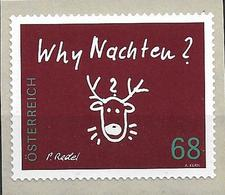 """2015 Austria Mi. 3242**MNH  Mit Nr. 20  Rentierkopf, Inschrift """"Why Nachten - 1945-.... 2. Republik"""